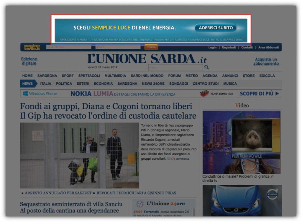 Banner su L'Unione Sarda.it - Leaderboard